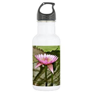 池のピンクのスイレン ウォーターボトル