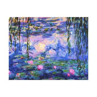 池の反射のMonetのスイレン キャンバスプリント