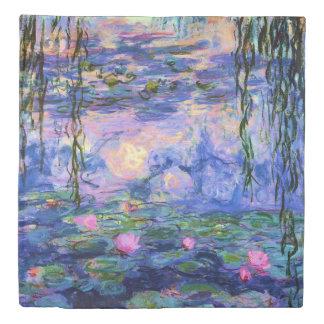 池の反射のMonetのスイレン 掛け布団カバー