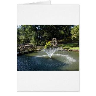 池の噴水 カード