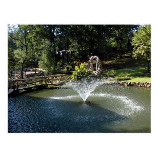 池の噴水 ポストカード