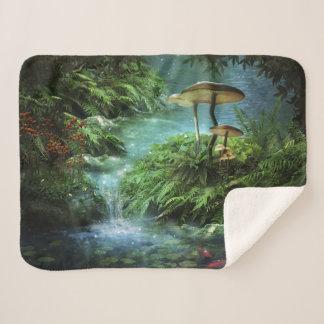 池の小さいSherpaの魅了されたフリースブランケット シェルパブランケット