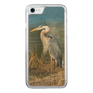 池の素晴らしい青鷲の鳥 CARVED iPhone 8/7 ケース