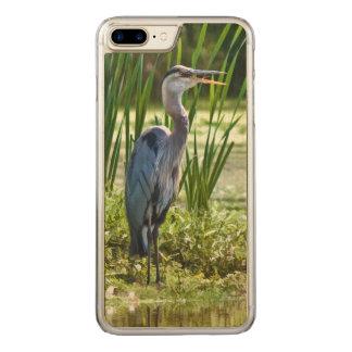 池の素晴らしい青鷲の鳥 CARVED iPhone 8 PLUS/7 PLUS ケース