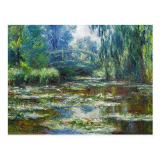池及び日本人橋Monetのファインアート ポストカード