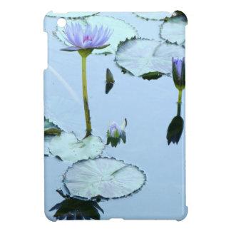 池水庭の《植物》スイレンの花の花柄Lilypads iPad Mini カバー