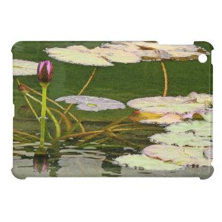 池水庭の《植物》スイレンの花の花柄Lilypads iPad Mini Case