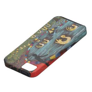 池、ゴム製アヒルちゃんで泳いでいる黄色いアヒル iPhone SE/5/5s ケース