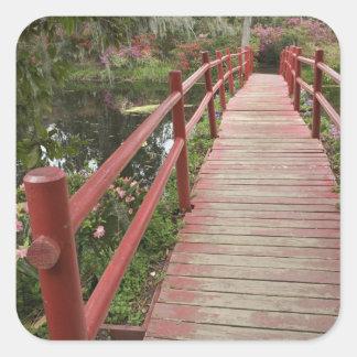 池、マグノリアのプランテーション上の赤い橋、 スクエアシール