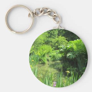 池、リッチモンドによるアイリス及びサクラソウ属公園のキーホルダー キーホルダー