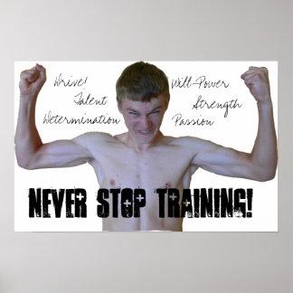 決してやる気を起こさせるなポスターを訓練することを止めないで下さい ポスター