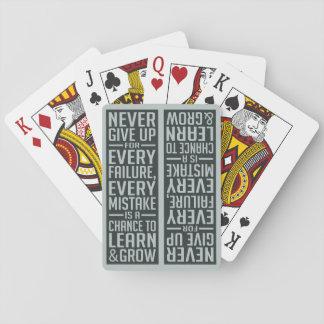 決してやる気を起こさせるな遊ぶカードをあきらめないで下さい トランプ