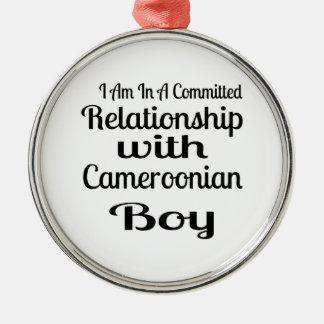 決してカメルーン人のお父さんを過少見積りしないで下さい メタルオーナメント