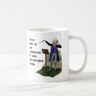 決してコンダクターを見ないで下さい コーヒーマグカップ
