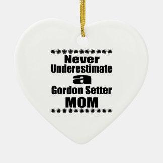 決してゴードンセッターのお母さんを過少見積りしないで下さい セラミックオーナメント
