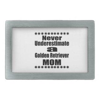 決してゴールデン・リトリーバーのお母さんを過少見積りしないで下さい 長方形ベルトバックル