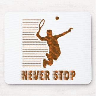 決してストップ: テニス マウスパッド