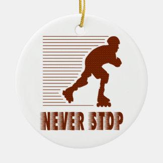 決してストップ: Rollerbladingのオーナメント セラミックオーナメント