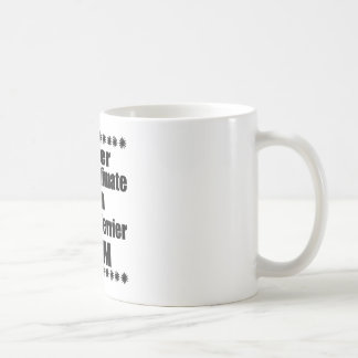 決してノーフォークテリアのお母さんを過少見積りしないで下さい コーヒーマグカップ