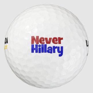決してヒラリーのゴルフ・ボール、red&blue ゴルフボール