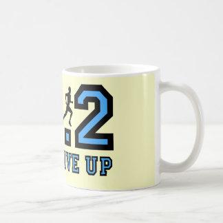 決してマラソンをあきらめないで下さい コーヒーマグカップ