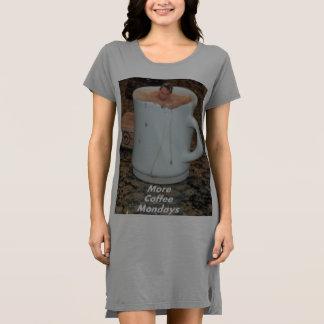 決してレディースワイシャツ十分なコーヒー ドレス