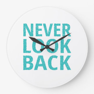 決してレトロのタイポグラフィを見ないで下さい ラージ壁時計