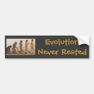決して休む進化 バンパーステッカー