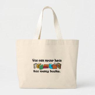 決して余りにも多くの本のTシャツを有することができません ラージトートバッグ