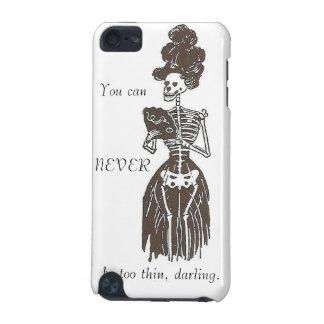 決して余りに薄くないがあないで下さい: 風刺: 余りに細い女の子の例 iPod TOUCH 5G ケース