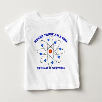 決して原子を信頼しないで下さい ベビーTシャツ