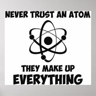 決して原子を信頼しないで下さい ポスター