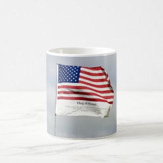 決して名誉の9/11旗を忘れないで下さい コーヒーマグカップ