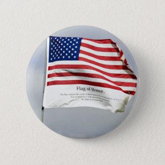 決して名誉ボタンの9/11旗を忘れないで下さい 缶バッジ