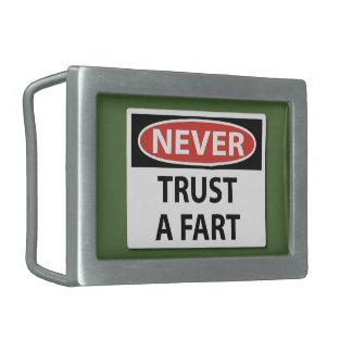 決して屁の有害排出物のベルトの留め金を信頼しないで下さい 長方形ベルトバックル