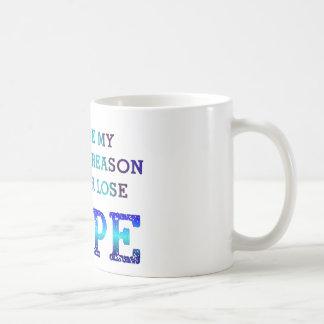 決して希望-ジェイ--を失わないで下さい コーヒーマグカップ