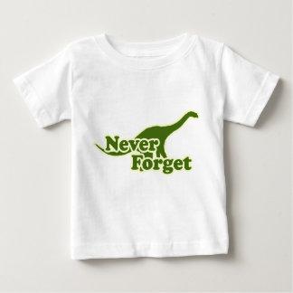 決して恐竜を忘れないで下さい ベビーTシャツ