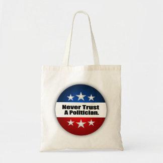 決して政治家を信頼しないで下さい トートバッグ