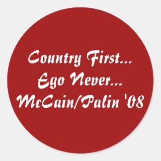決して最初に国の…自我… McCain/Palin 「08 ラウンドシール