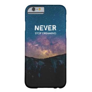 決して銀河系山の箱カバーを夢を見ることを止めないで下さい BARELY THERE iPhone 6 ケース