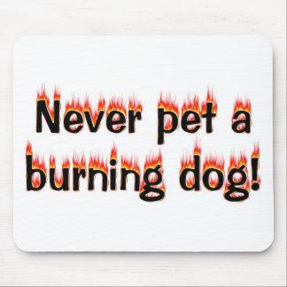 決して非常に熱い犬をかわいがらないで下さい! マウスパッド