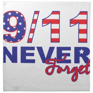 決して9/11を忘れないで下さい ナプキンクロス