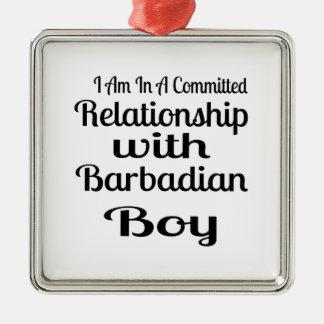 決してBarbadianのお父さんを過少見積りしないで下さい メタルオーナメント