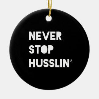 決してHusslinのやる気を起こさせるな引用文の白黒をストップ セラミックオーナメント