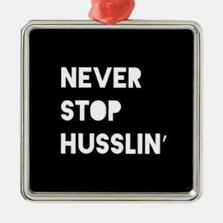 決してHusslinのやる気を起こさせるな引用文の白黒をストップ メタルオーナメント