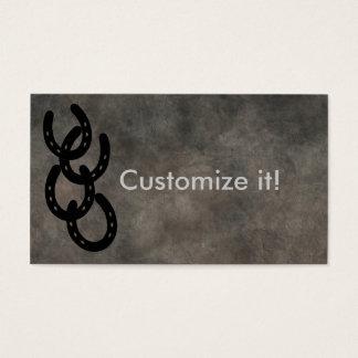決め付けられた蹄鉄カスタマイズ可能な名刺 名刺