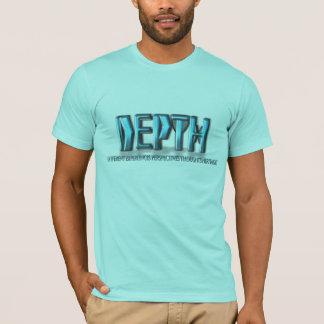決め付けられる深さのテンプレートのLogoedのカスタム Tシャツ