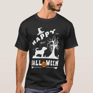 汽笛の音のハッピーハローウィンの愛犬家のギフト Tシャツ