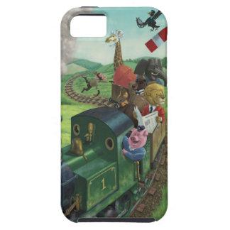 汽車の旅を楽しんでいる漫画動物 iPhone 5 COVER
