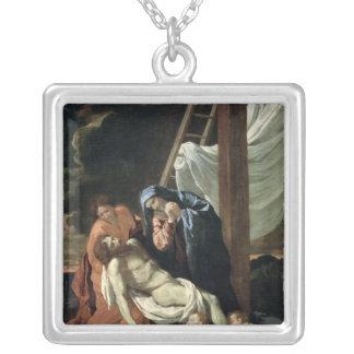 沈殿、c.1630 シルバープレートネックレス